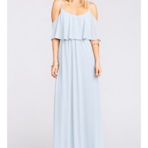 Show Me Your Mumu Steel Blue Caitlin Dress